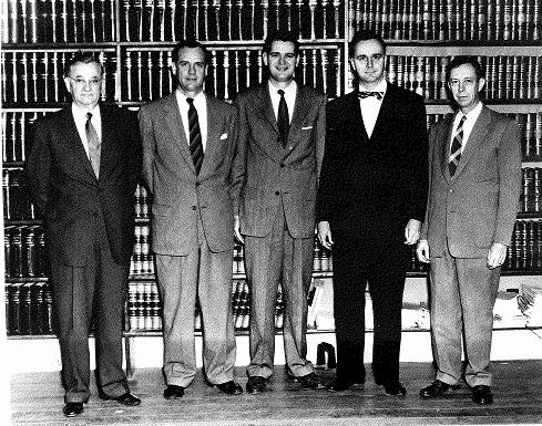 From left to right: Aubrey Matthews, John Maddox, Ralph Ivey, Oscar Smith and Stokes Walton.